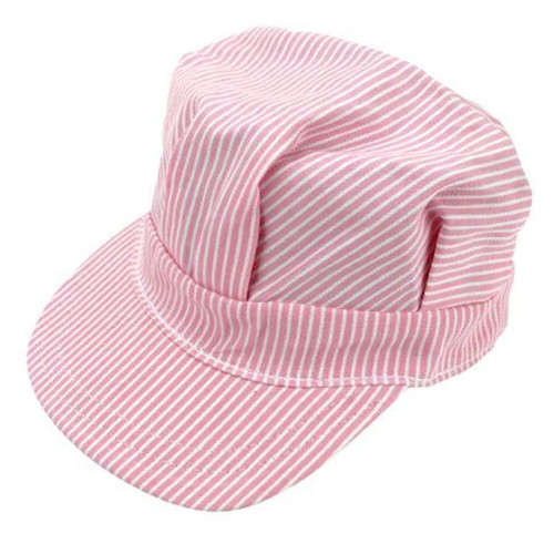 Child's Hickory Stripe Railroad Engineer's Cap