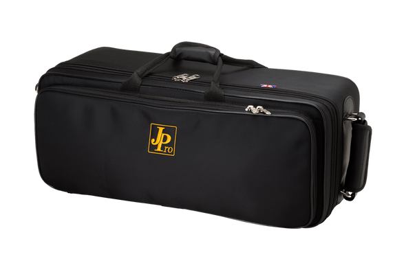 JP Pro Deluxe Double Trumpet Fiberglass Case in Black