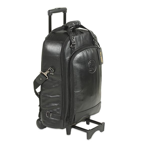 Gard Wheelie Bag in Leather - Trpt+Picc+Flugel