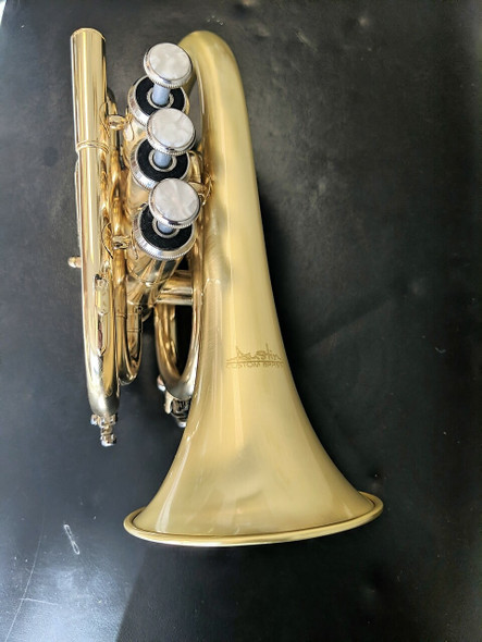 Perfect for travel! The Cute small bell ACB Doubler's Pocket Trumpet