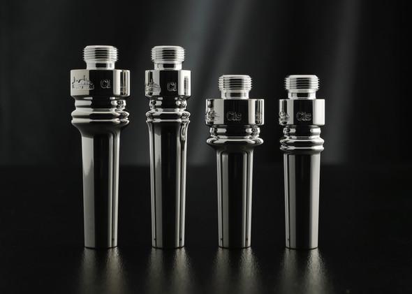 ACB cornet backbore blanks (from left to right: C1 heavy, C1 standard, C1s heavy, C1s standard)