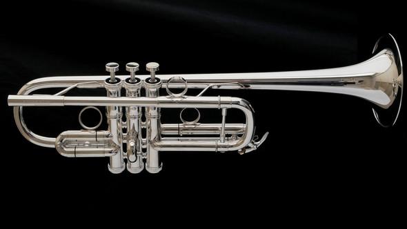 Brasspire Unicorn 1000S  C Trumpet in Silver Plate