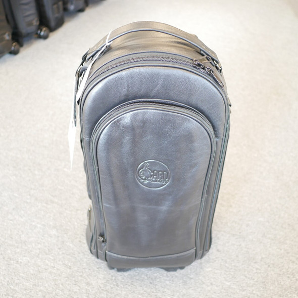 The Fabulous Gard Triple Trumpet Wheelie Bag in Leather