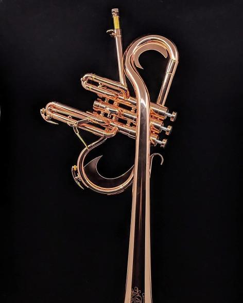 Adams Custom Reverse Flugelhorn (Christian Scott Model) in Rare Copper Plate!