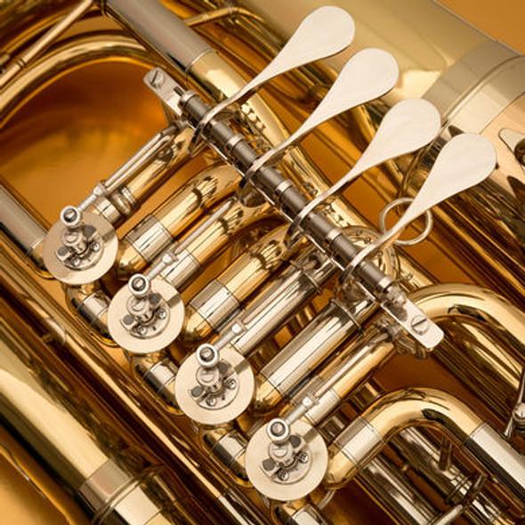 John Packer JP379FF Sterling F Tuba in Gold Lacquer