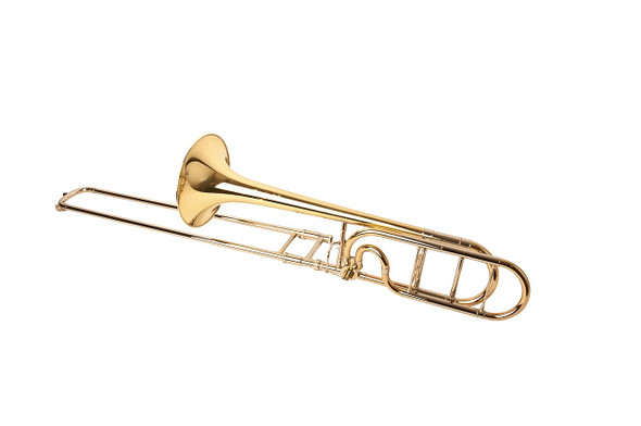 Manchester Brass Professional Tenor Trombone with Red Brass Bell