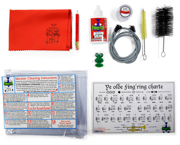 Monster Cleaning and Care Kit for Trumpets!