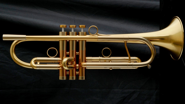 Adams A4LT Selected Series Trumpet in Satin Gold Lacquer!