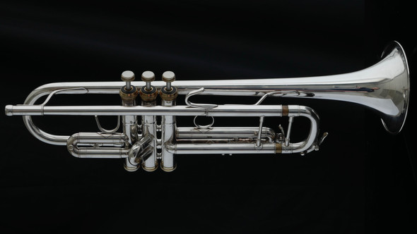 Pre-Owned Accent TR950 Trumpet (B+S Stencil) in Silver Plate with Gold Accents!!