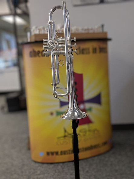 Exclusive to ACB:  Manchester Brass Custom RL-GB Professional Bb Trumpet in Silver Plate!  An Incredible Pro Trumpet!