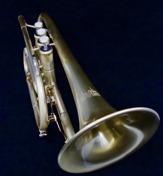 Brass Band Bundle! ACB Doubler's Dual Trigger Large Bore Shepherd's Crook Cornet, ACB Fab cornet mouthpiece, DW Straight, DW Cup mute, UP Care kit, and stand!