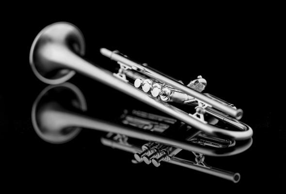 Silver Plated Custom Schagerl Roman Empire Trumpet!