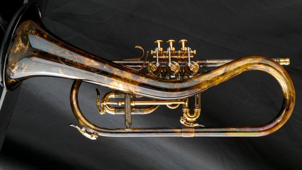 Schagerl Killer Queen Flugelhorn in Vintage Lacquer with Gold Accents!