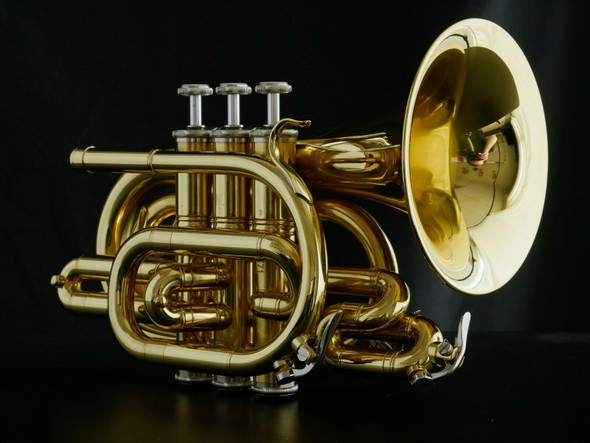 Fantastic Manchester Brass Large Bell Pocket Trumpet in Polished Lacquer