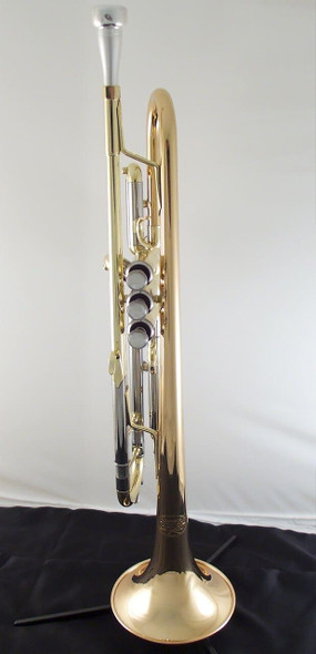 Back in stock  Manchester Brass Professional Bb Trumpet in clear lacquer with gold brass bell