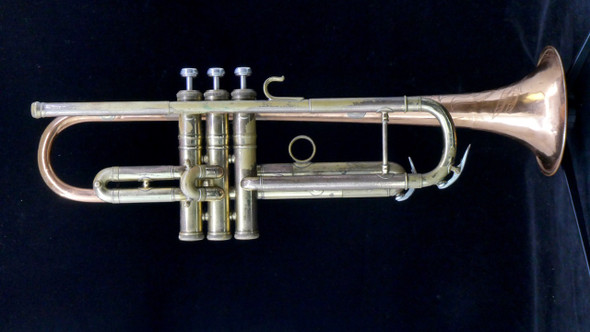 Vintage Conn 12B with Coprion Bell in Lacquer and Raw Brass!