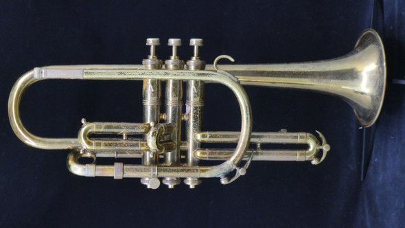 Pre-Owned King Master Cornet with Underslung Wrap Design in Lacquer!