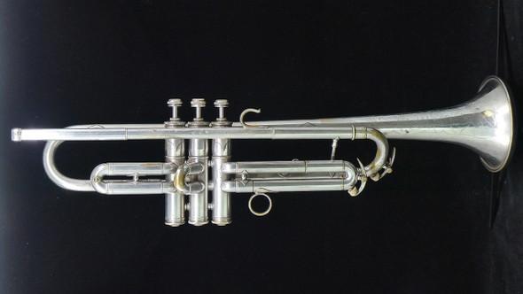 Vintage Conn 58B Slim Wrap Trumpet in Silver Plate!