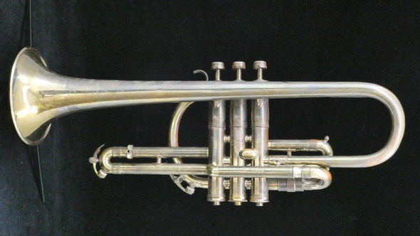 Pre-Owned King Master Cornet with Underslung Wrap Design in Dark Lacquer!