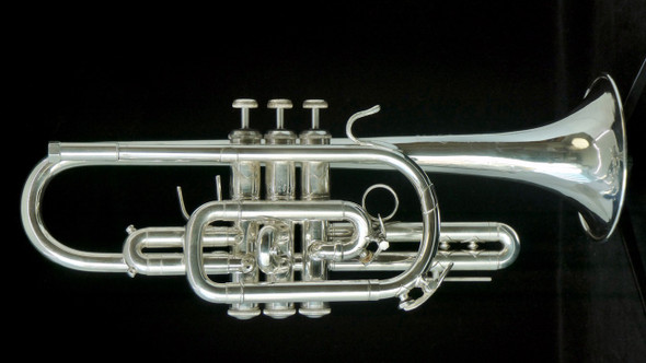 Pre-Owned Bach Stradivarius 37 Cornet in Silver Plate!