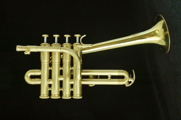 Sweet  Custom ACB Piccolo Trumpet with Upturned   Leblanc Bell!