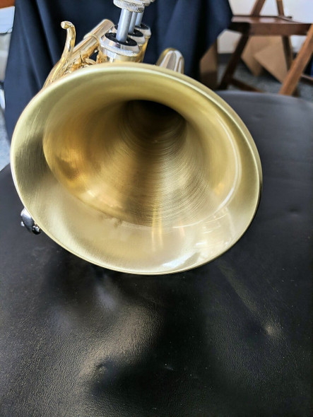 Satin lacquer Small Bell ACB Doubler's Pocket Trumpet - perfect for travel!