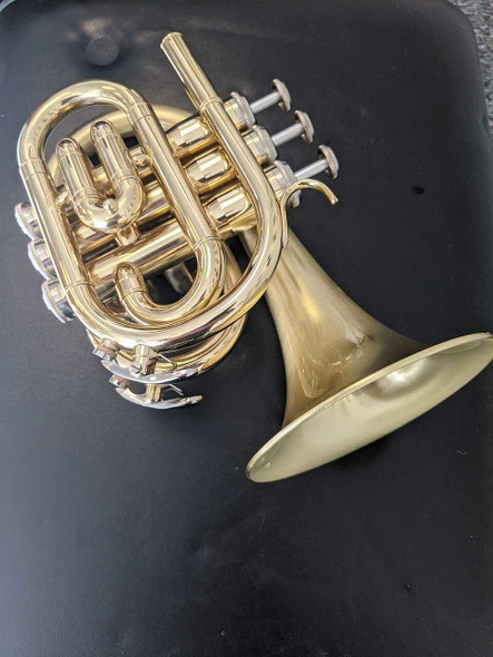 new for 2021!   Satin Lacquer ACB Doubler's Large Bell Pocket Trumpet!