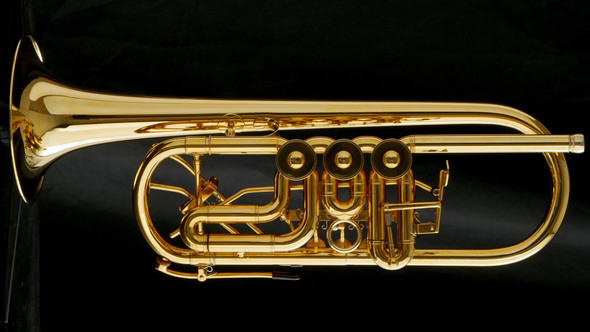 Schagerl Horsdorf Rotary C Trumpet in Gold plate!