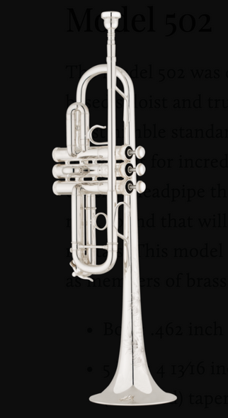 Shires Model 502 C Trumpet in Silver Plate!