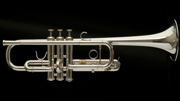 Pre-Owned Adams C1-L C Trumpet in Silver Plate with Custom Inlays! Great Player!