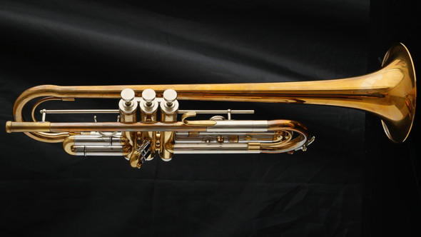 Awesome playing  Custom Schagerl LU5A Trumpet in Raw Brass! Special price!