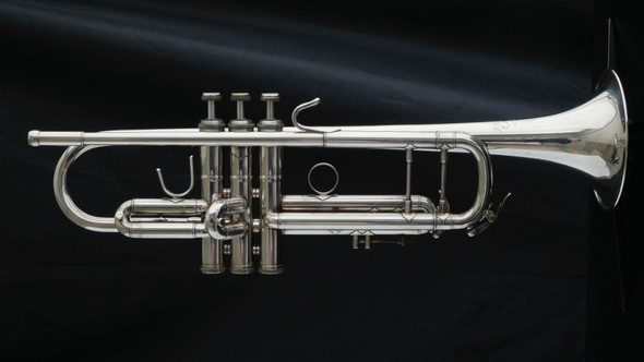 Back To School Bargain!   Used  F Schmidt Bb Trumpet in Silver Plate!