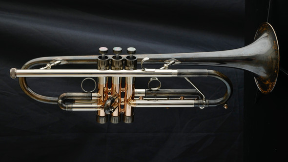 Anton Possegger Trumpet with MAW valves in vintage lacquer with polished accents!