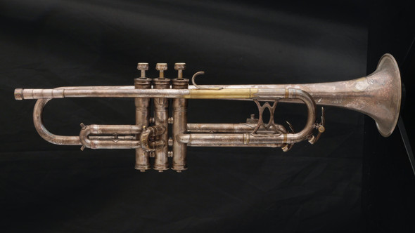 Vintage 1947 King Liberty Trumpet in Silver Plate!