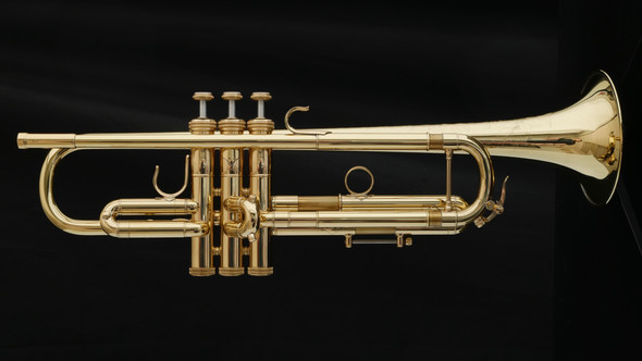 Shires CVLA Large Bore Commercial Trumpet in Lacquer - Trade Show Demo!