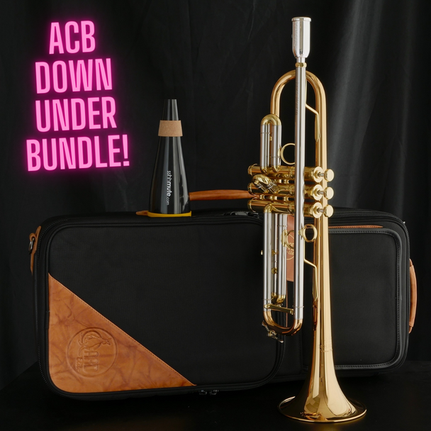"Down Under Bundle! Schagerl Signature ""James Morrison"" Bb Trumpet in Lacquer JM2-L, Schagerl ""James Morrison"" Apredato Mouthpiece, sshhmute Practice Mute, Gard Double Bag in Nylon"