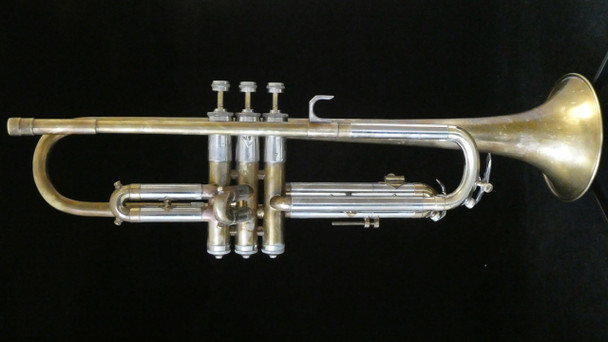 Vintage 1939 Martin Handcraft Imperial Trumpet in Raw Brass with M Bell!