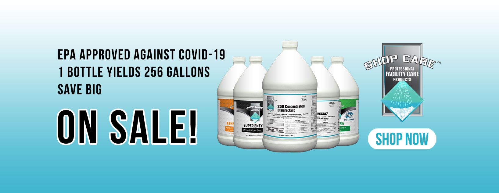 256 Concentrated disinfectant on sale!