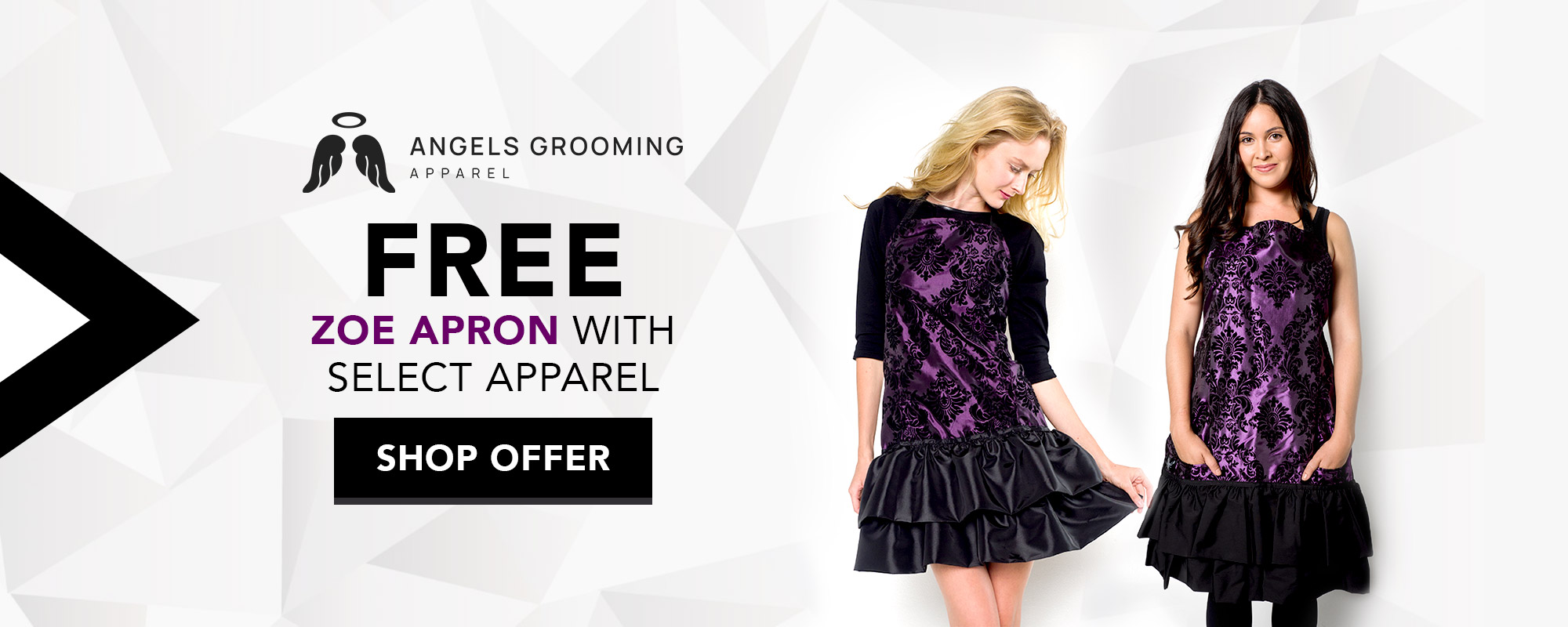 Free Grooming Apron with select womens' grooming apparel