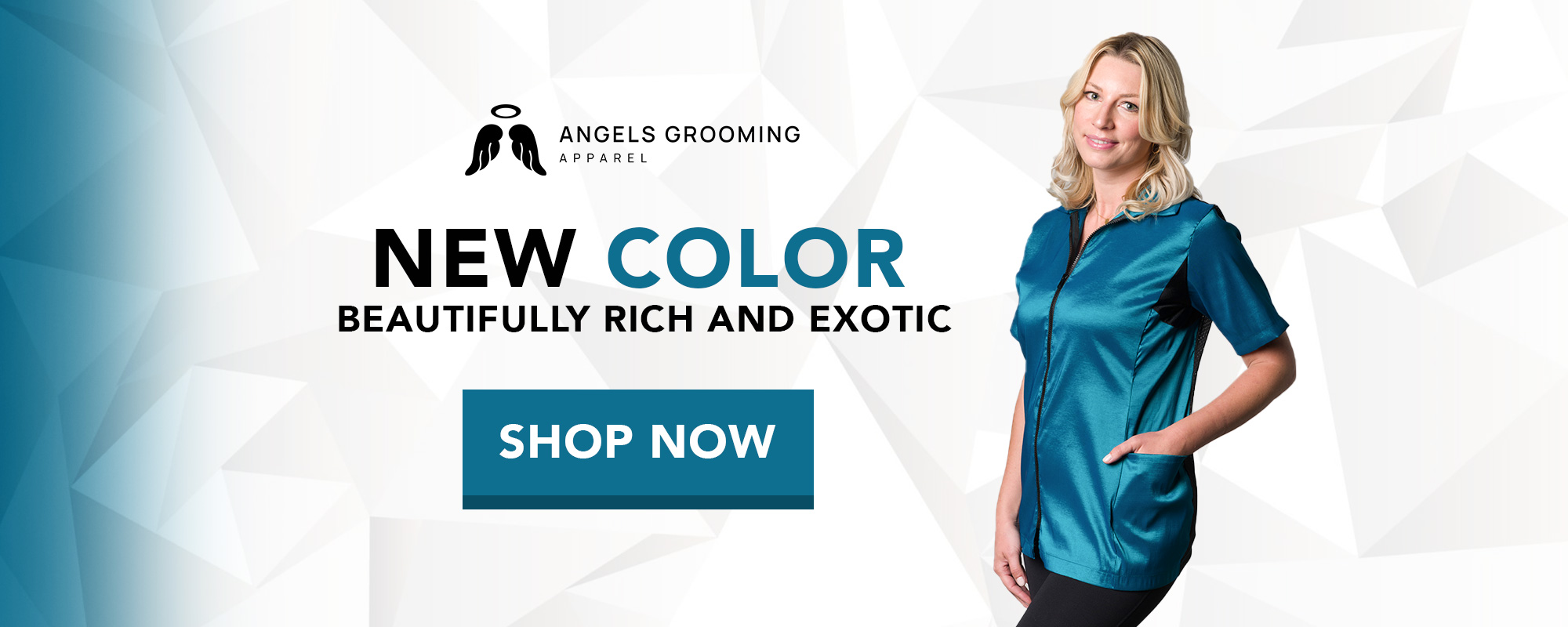 New Teal for Angels Grooming Apparel Grooming Jackets
