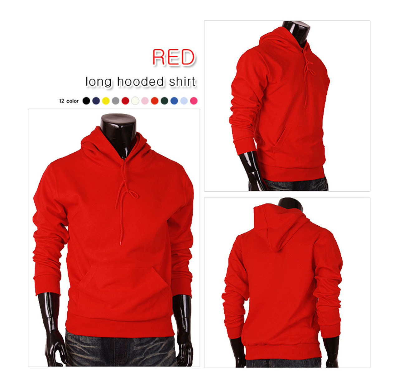09d60803e0 red hoodie pullover for unisex cotton hoodie t-shirt men hoodie t ...