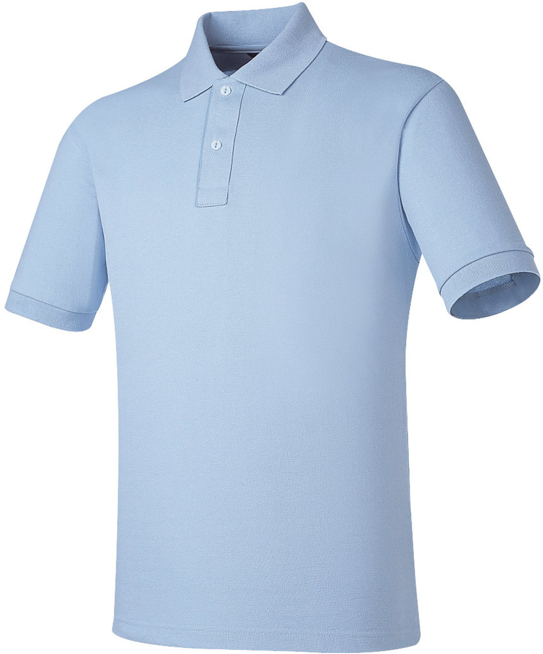 Sky Blue Cotton Pk Polo Shirt Side Placket