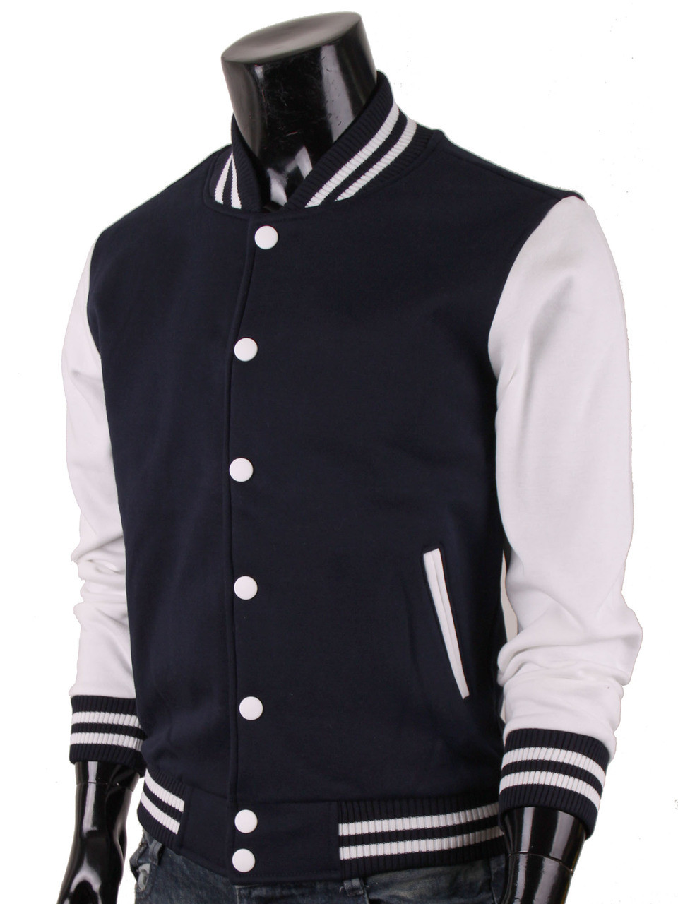 b3a1003b7 Bcpolo Baseball Jacket Cotton Varsity Jacket Sweatshirt Letterman Jacket