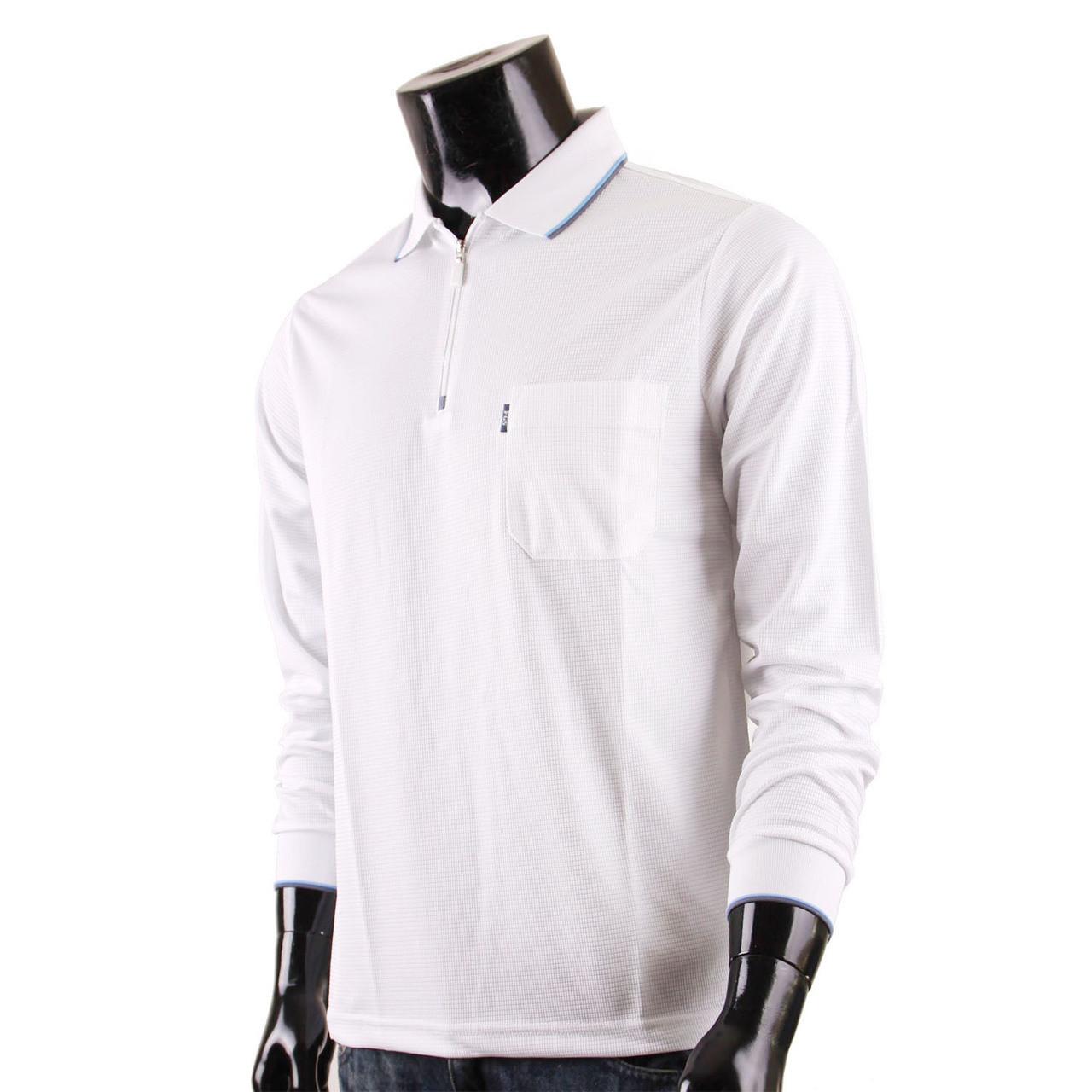 b585081c955d1 Men's Zip Polo Shirt DRI FIT Zip Polo Shirt Plain Zip Polo shirt Long  Sleeves White