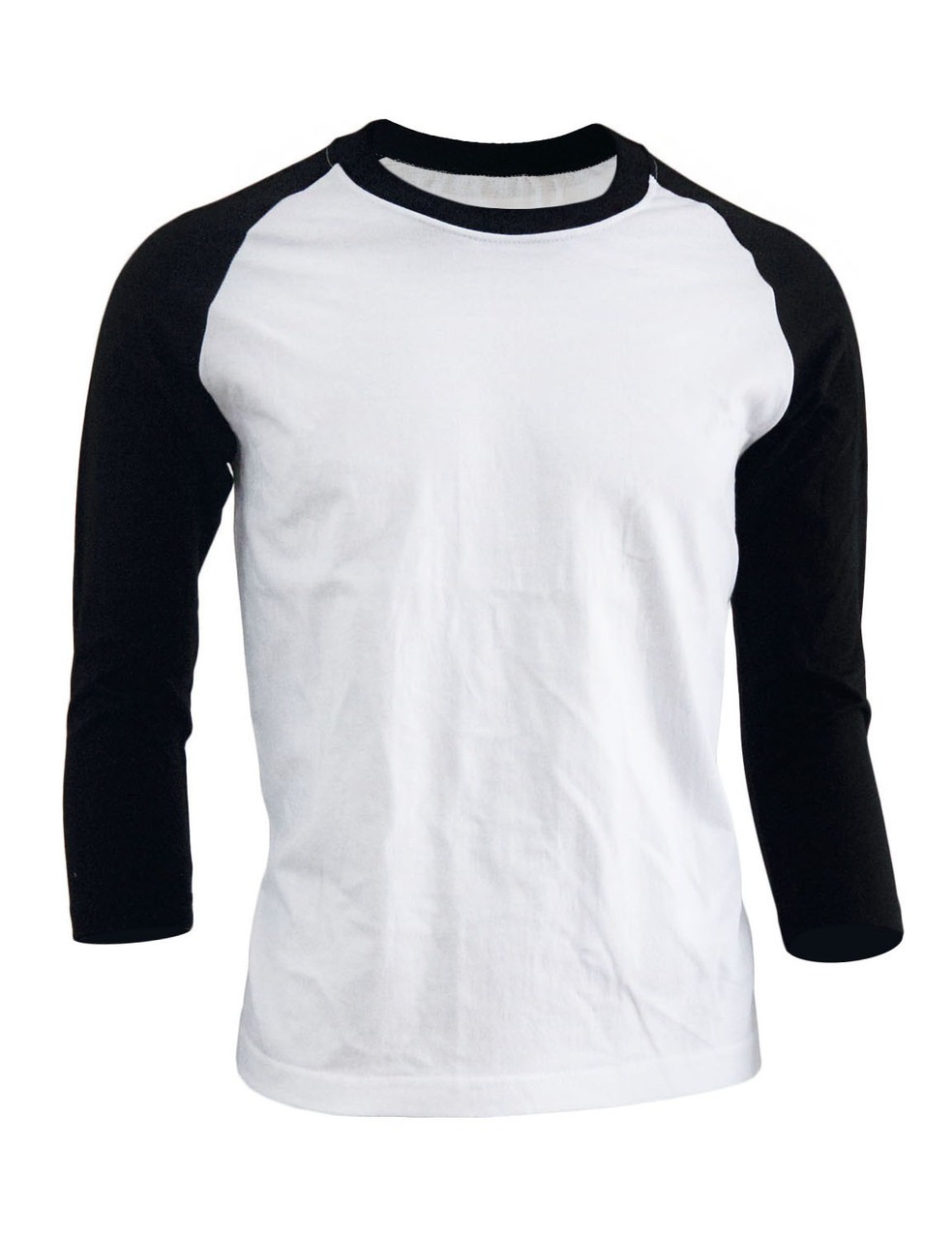 ef502837 BCPOLO Unisex casual round neck t-shirt 3/4 sleeve 2 tone color Raglan t- shirt cotton comfortable t-shirt.