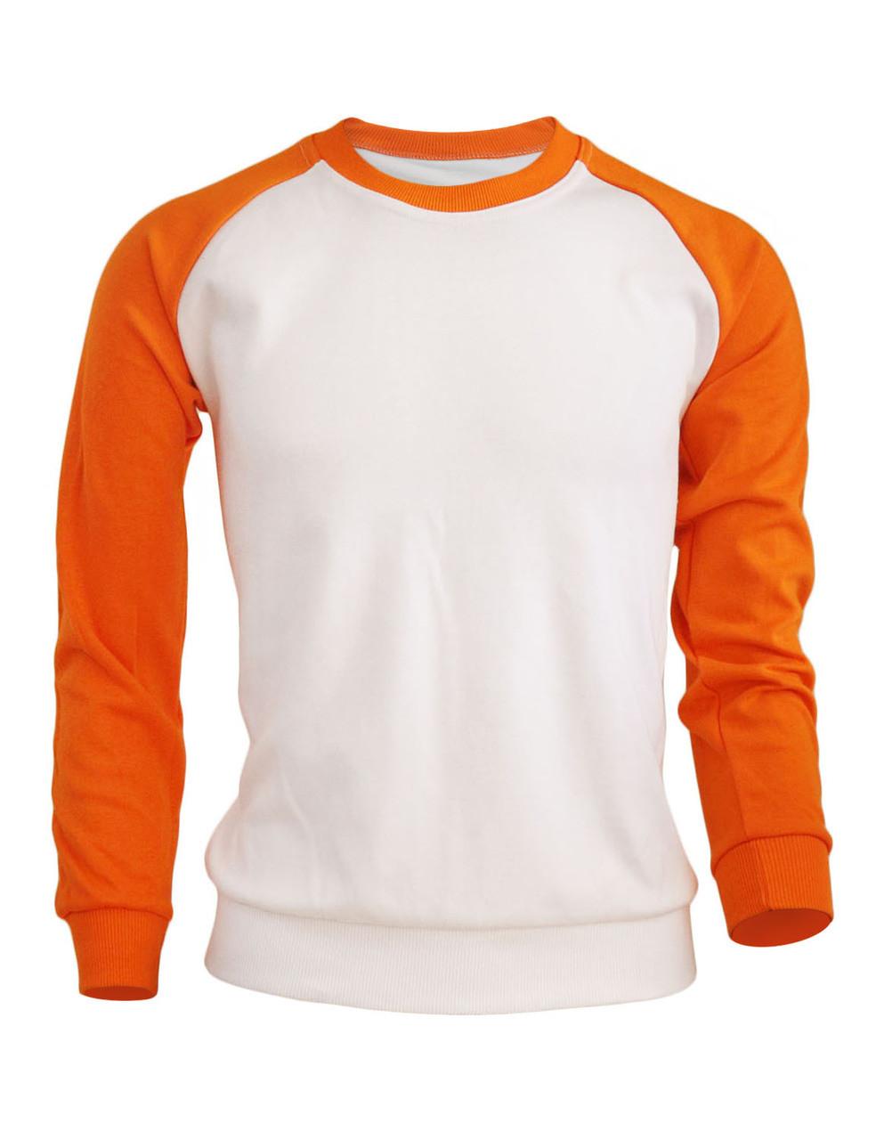 differently c38c2 c3dea BCPOLO Men s Casual raglan 2 tone color t-shirt sportswear fashion crew  neck cotton shirt.-orange ...