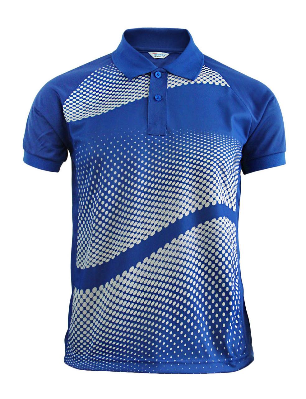 d2bbc676 Graphics Design Polo Shirt Blue Golfwear Short Sleeve Summer Shirt