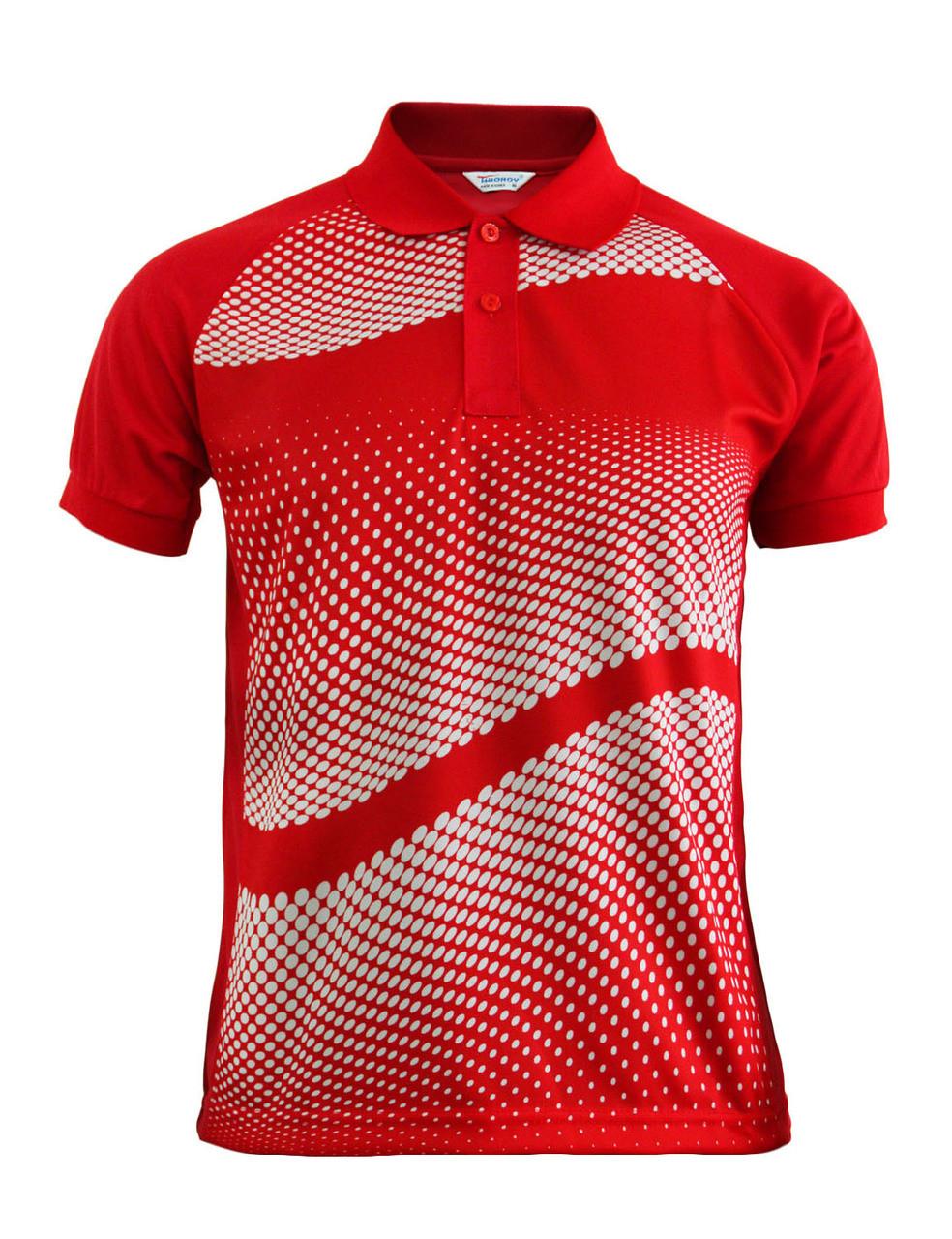 ba546998 Graphics Design Polo Shirt Red Golfwear Short Sleeve Summer Shirt