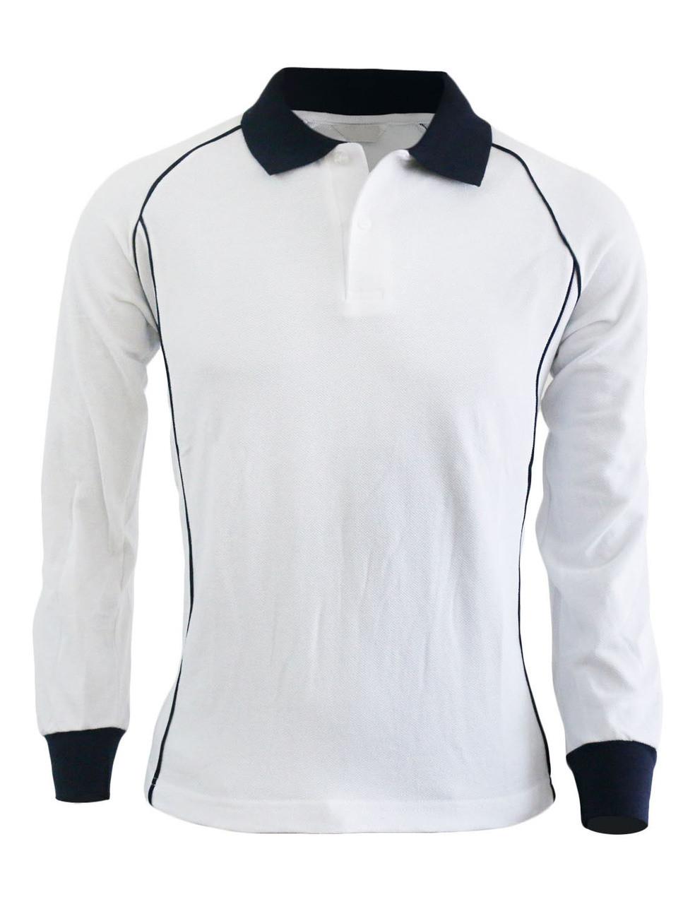 Casual unisex sportswear unique design long sleeve polo shirt