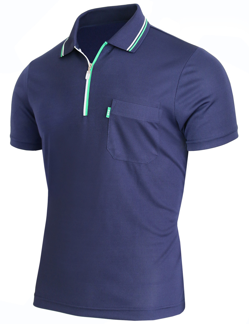 23e1c7f85 Short Sleeve Dri Fit Zip Polo Shirt-Unisex